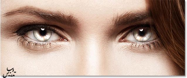 افزایش جذابیت به چشمها در فتوشاپ