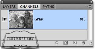 تبدیل عکس رنگی به سیاه و سفید در فتوشاپ