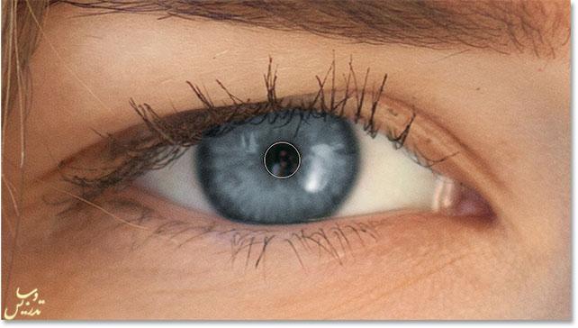 رنگی کردن چشم در فتوشاپ