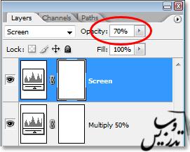 نوع ترکیبی لایه ی Screen در فتوشاپ
