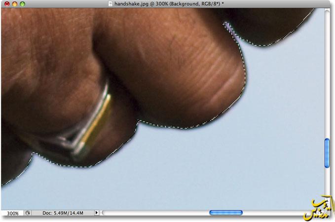 آموزش فتوشاپ کار با ابزار های انتخاب ابزار لسو