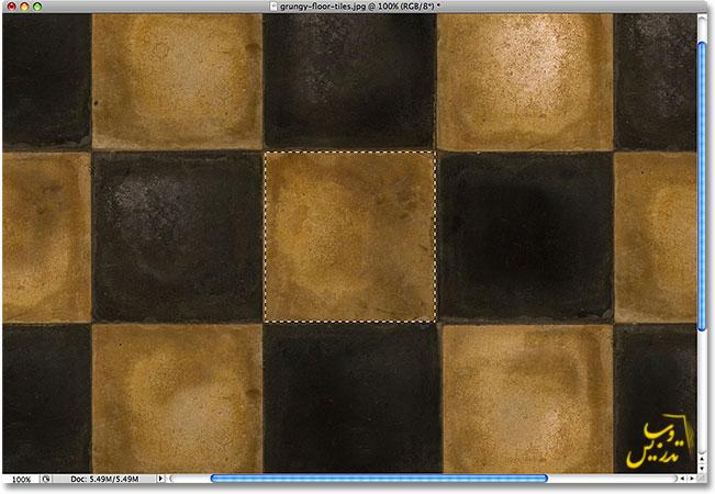 آموزش کار با ابزار انتخاب مربع در فتوشاپ