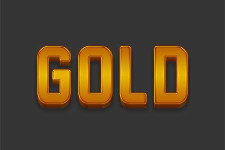 ایجاد متن طلایی سه بعدی ساده در فتوشاپ