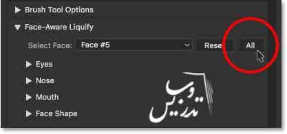 آموزش کار با ابزار face-aware-liquify در فتوشاپ