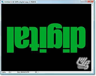 آموزش فتوشاپ ایجاد یک متن دیجیتال زیبا